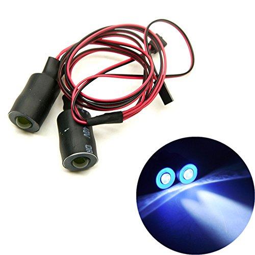 RC-FAST 17mm Blue&White 2 Leds Angel Eyes LED Car Light HeadlightsTaillight for 110 RC Crawler Truck Car