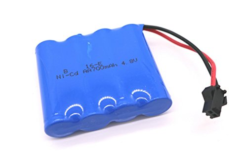 SZJJX RC Car Rechargeable Battery Ni-Cd AA 700mAh 48V High Capacity Battery Pack for SZJJX RC Rock Off-Road Vehicle 24Ghz 4WD High Speed 118 Racing Cars
