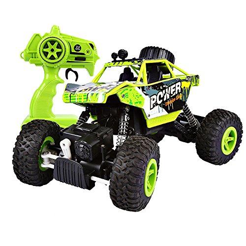 SainSmart Jr RC Rock Crawler 24 GHz Radio Control Off-Road Climbing Car 4WD 118 Monster Truck Green
