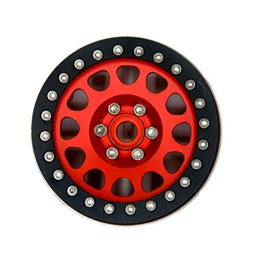 RCLIONS Aluminum 22 Beadlock WheelsRims for 110 Crawler Wraith RC Car -Pack of 1