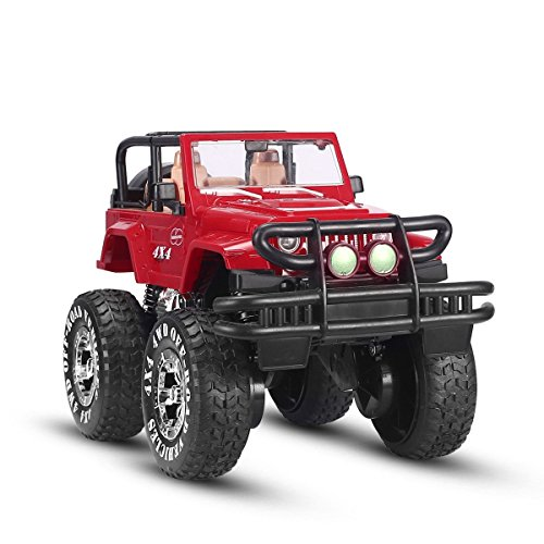 SZJJX 110 Remote Control Car 4WD Shaft Drive Truck Large Four-wheel Drive Remote Super Off-road racing Toy Radio Controlled rc Chargeable Off-road Rock CrawlerJJX 601 Vehicle Red