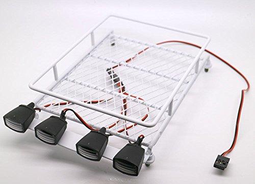 RC 110 Roof Luggage Rack LED Light Bar Wrangler Tamiya CC01 SCX10 Axial 512W White