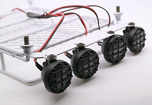 RC 110 Roof Luggage Rack LED Light Bar Wrangler Tamiya CC01 SCX10 Axial 513W White