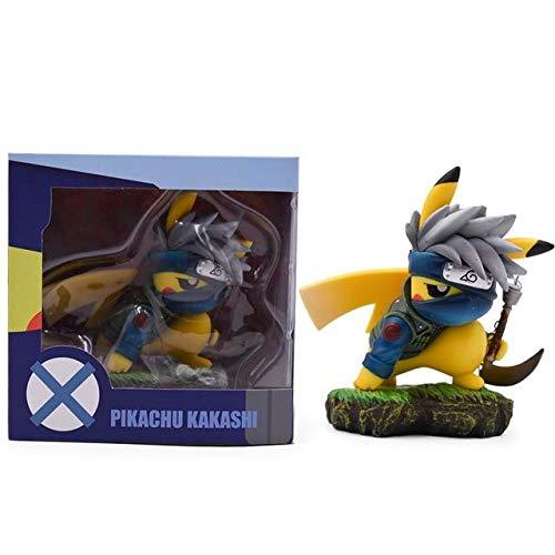 Anime Cartoon Pikachu Kakashi Cosplay Hatake Kakashi Naruto Action Figure PVC Figurine Collectible Model Toy - with Box - Code A1449