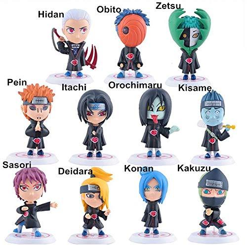 Fallhuoz 11 Styles HidanObitozetsuPeinItachi Mini Figures Naruto Action Figure Akatsuki Toys for Kids OPP Package 7cm