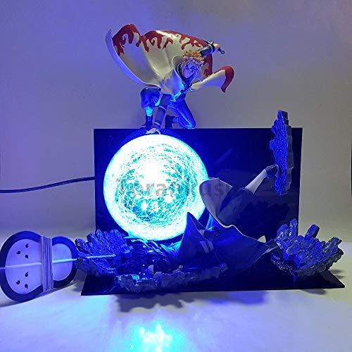 Fallhuoz Naruto Action Figure Minato Vs Obito Rasengan Led Light Scene Toy Anime Naruto Shippuden Figurine Uchiha Obito Model Toys Gift