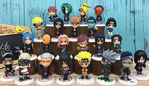 Set of 23 Naruto Akatsuki Mini Action Figures Including Sakura Kakashi Sasuke
