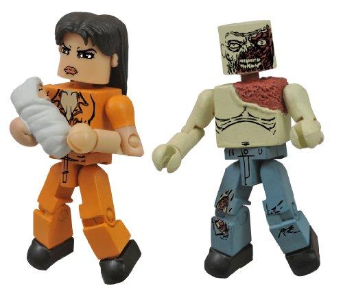Diamond Select Toys The Walking Dead Minimates Series 4 Prison Lori and Shoulder Zombie Action Figure