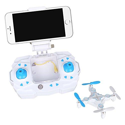 Dwi Dowellin RC Mini Drone with Camera 03MP FPV Real Time Video WiFi Function Small Quadcopter Nano Quadrotor 901S Blue