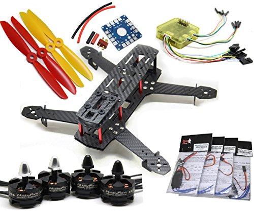 HobbyFans Section Board 2300KV HM2204U Brushless Motor 12A ESC CC3D QAV250 Drones with Remote Controller Unassembled