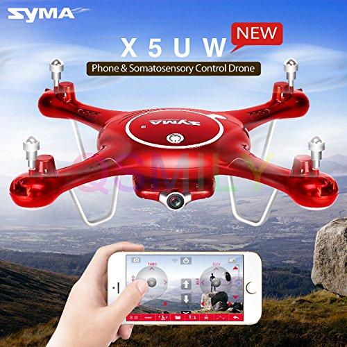 Qsmily Syma X5UW WiFi FPV Control 24G 4CH 6-axis-gyro RC Quadcopter Drone With HD Camera Altitude Hold