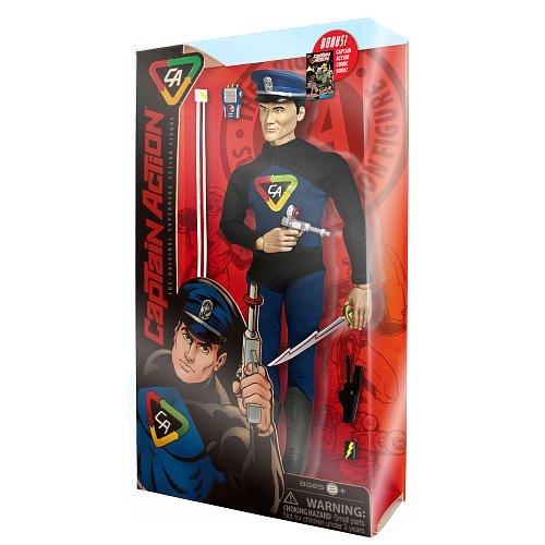 Captain Action The Original Superhero Action Figure with Comic Book