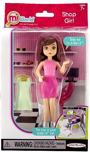 miWorld Shop Girl 5 Doll Figure Pack - Brunette
