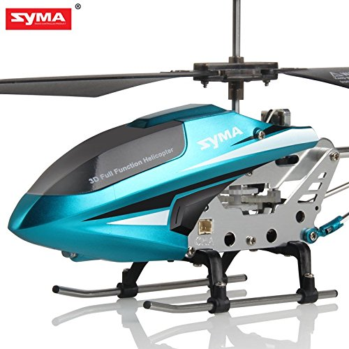 RC Drone SYMA S107W 3 Channel RC Helicopter Quadcopter With Gyro-Blue