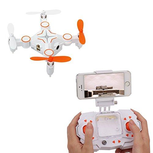 Dwi Dowellin RC Mini Drone with Camera 03MP FPV Real Time Video WiFi Small Quadcopter Nano Quadrotor 901S Orange
