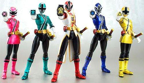 Bandai Tamashii Nations SH Figuarts SDCC Power Rangers Samurai Action Figure 5-Pack