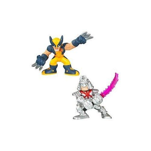 Disney Marvel Super Hero Squad -- Wolverine and Silver Samurai Action Figures