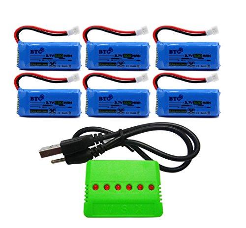 BTG 500mAh 37V Upgrade Battery X6 Charger for F180C JJRC H37 H6D H6C H31 Hubsan X4 H107C H107D H107L H107P H108 JXD392 388 Wltoys V939 V252 UDI U816A Walkera Super Mini Genius CP