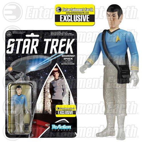 Star Trek TOS Beaming Spock ReAction Figure - EE Ex