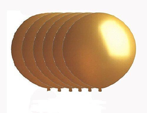 36 Inch Latex Balloon Metallic Gold Premium Helium Quality Pkg6