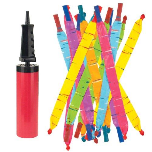 Rocket Balloons with Pump colors may vary