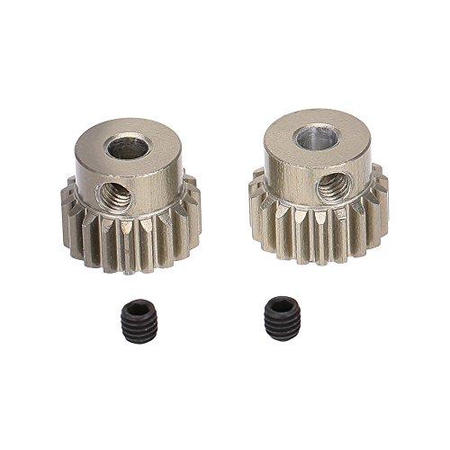 GoolRC 2Pcs 48DP 3175mm 19T Pinion Motor Gear for 110 RC Car Brushed Brushless Motor