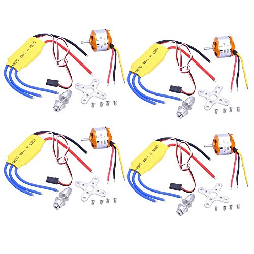 RioRand RC Accessories Set 680g 1000KV Outrunner Brushless Motor  30A Electric Speed Controller ESC for RC QuadcopterMulticopter 4 Sets