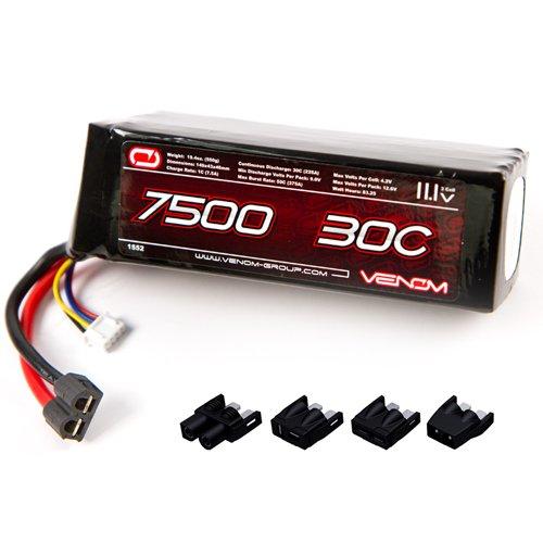 Venom LiPo Battery for Traxxas Slash 110 30C 111 7500mAh 3S with Universal Plug