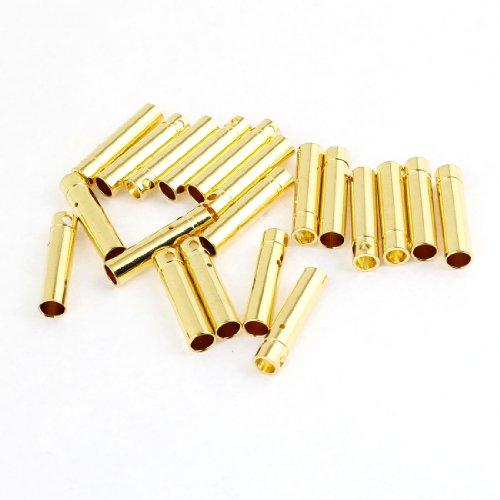 20 Pcs Female Bullet Connector Plug 4mm for RC Li-Po Battery