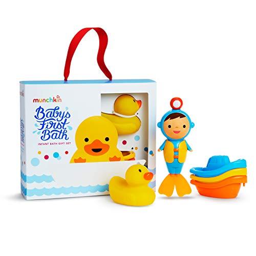Munchkin Babys First Bath 3 Piece Bath Toy Gift Set Bath Gift Set