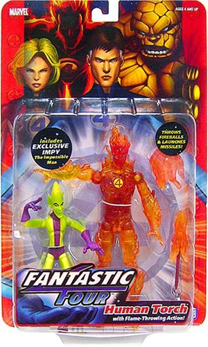 Fantastic Four Toy Biz Action Figure Series 1 Human Torch by Fantastic 4