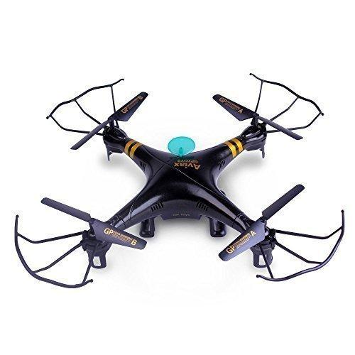 GPTOYS F2 RC Quadcopter Black Aviax Quadcopter Kit 6-Axis 24GHz Remote Control Quadcopter Headless Mode
