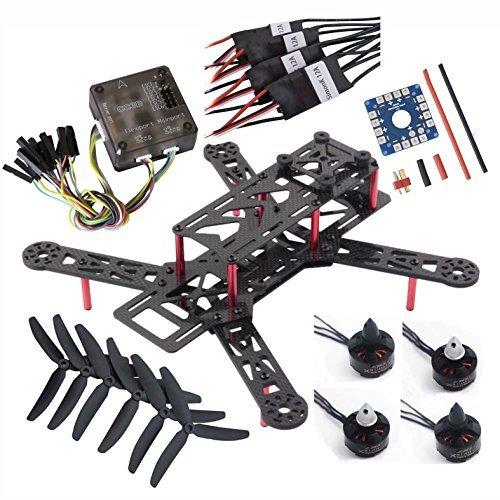 Hobbypower 250mm Mini Quad DIY FPV Quadcopter Kit  Emax MT1806 Motor  Simonk 12A ESC W CC3D Flight controller Model