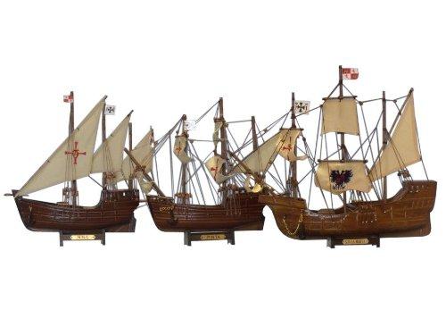 Buy Santa Maria Nina Pinta Set - Christopher Columbus Ship - Historic Model Ship Set - Nautical Decoration - Nautical Gift - Model Tall Ships - Handcrafted Model Boats - Sold Fully Assembled - Not A Model Ship Kit