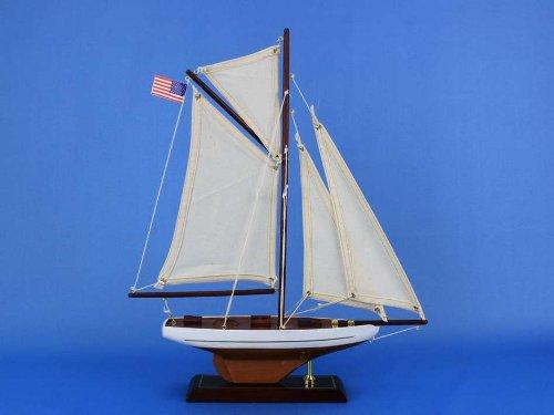 Columbia 16 - Wooden Sailboat Centerpiece - Model Sailing Yacht - Scale Model Yacht - Model Sailing Yacht - Wooden Model Yacht - Not A Model Ship Kit