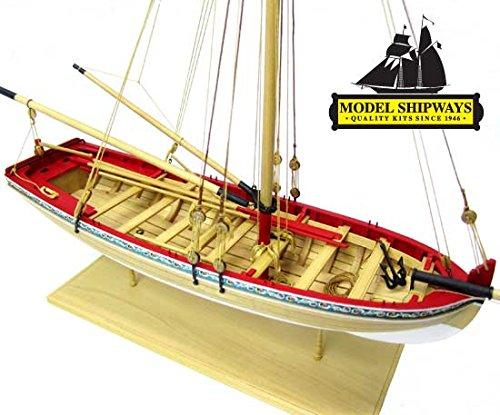 Model Shipways 18th Century Longboat 14 Scale Wood Model Kit - Intro to Shipmodeling - Model Expo