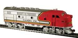 Model Power - Diesel F2-A Dual Drive Powered wLight -- Santa Fe - HO