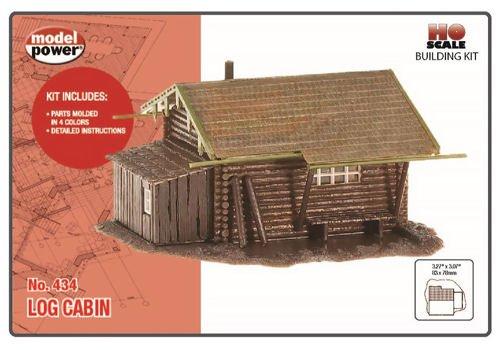 Model Power HO Scale Building Kit - Hunters Log Cabin