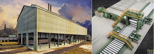 Walthers HO Scale Ashland Iron Steel - Cornerstone Series174 Plastic Kit Rolling Mill 32 x 11-18 x 10 813 x 2826 x 254cm