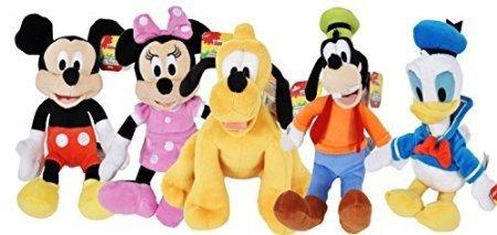 Disney Gang 9 Bean Plush Mickey Minnie Mouse Donald Pluto Goofy - 5 Pack
