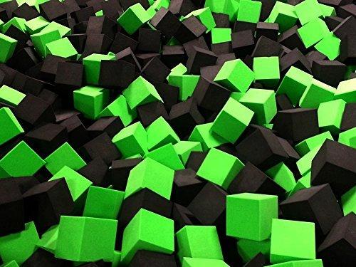 Foam Pit CubesBlocks 500 pcs Lime Green 4x4x4 1536 Flame Retardant Pit Foam Blocks For Skateboard Parks Gymnastics Companies and Trampoline Arenas