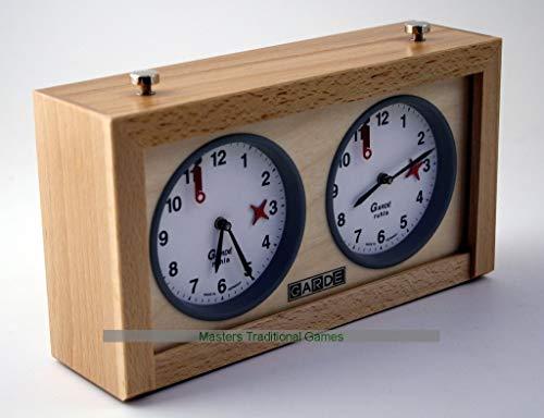 Garde Game  Chess Clock Analogue Wood