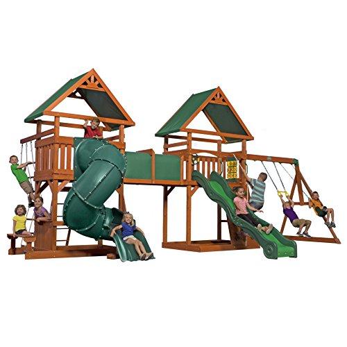 Backyard Discovery Grand Towers All Cedar Swing Set