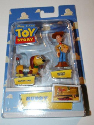 Disney  Pixar Toy Story Mini Figure Buddy Pack Sheriff Woody and Slinky Dog
