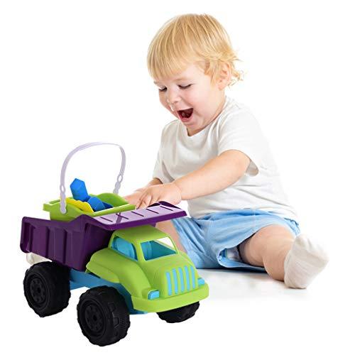 Aviat Kids 4PCS Fun Beach Sand Toys Set Truck Dump Trucks Set Molds Ship from USA Directly Multicolor