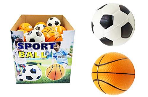 DollarItemDirect Large Foam Soccer Basketball Case of 36