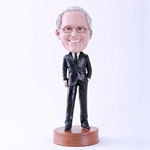 Custom Bobblehead Doll Black Suit Boss