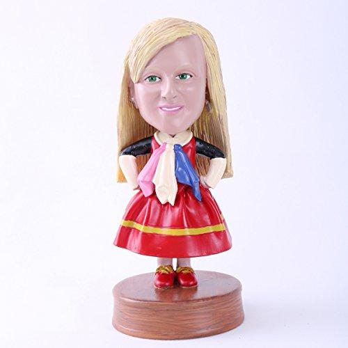Custom Bobblehead Doll Cartoon Skirt Girl