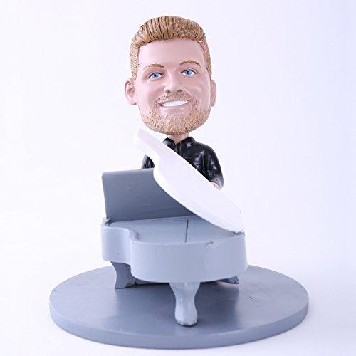 Custom Bobblehead Doll Man Playing Piano
