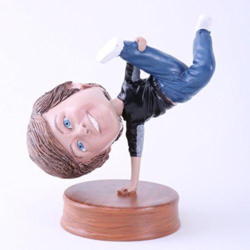 Custom Bobblehead Doll Man Single Handstand